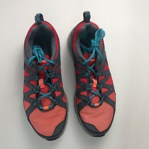 Nike air women's trail running shoes gray/0range 8